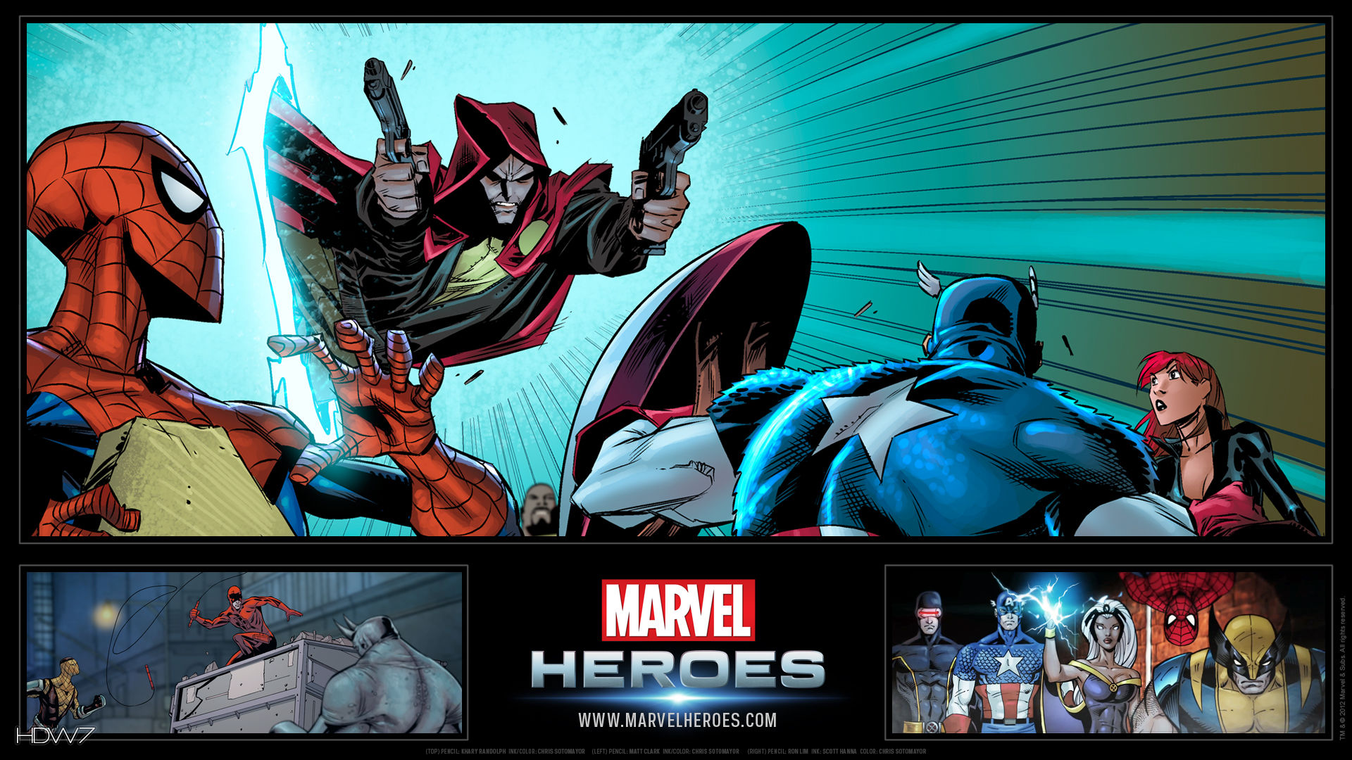 marvel heroes all marvel comics widescreen hd wallpaper