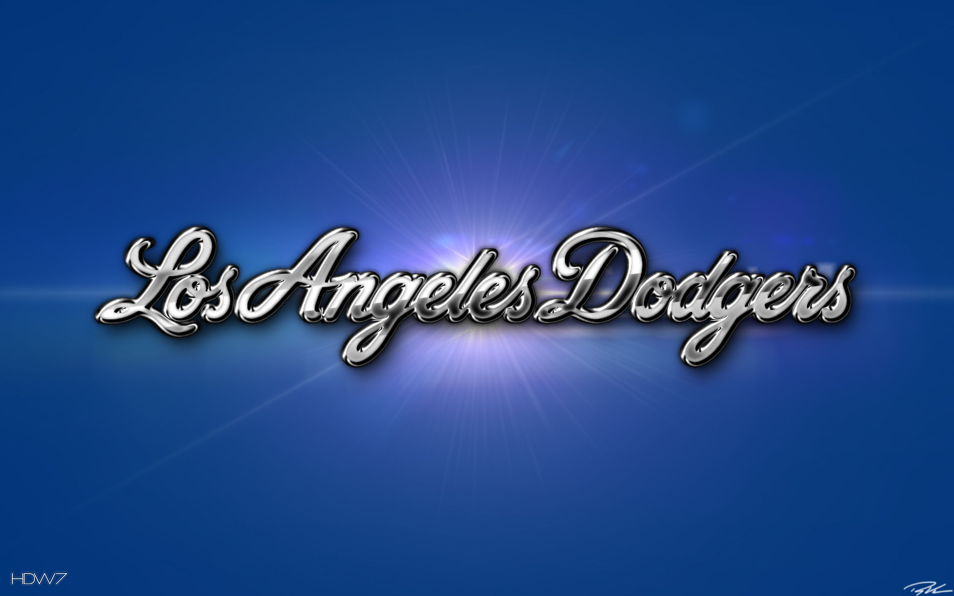 Los Angeles Dodgers 3d Chrome Wallpaper Hd Wallpaper Gallery 12