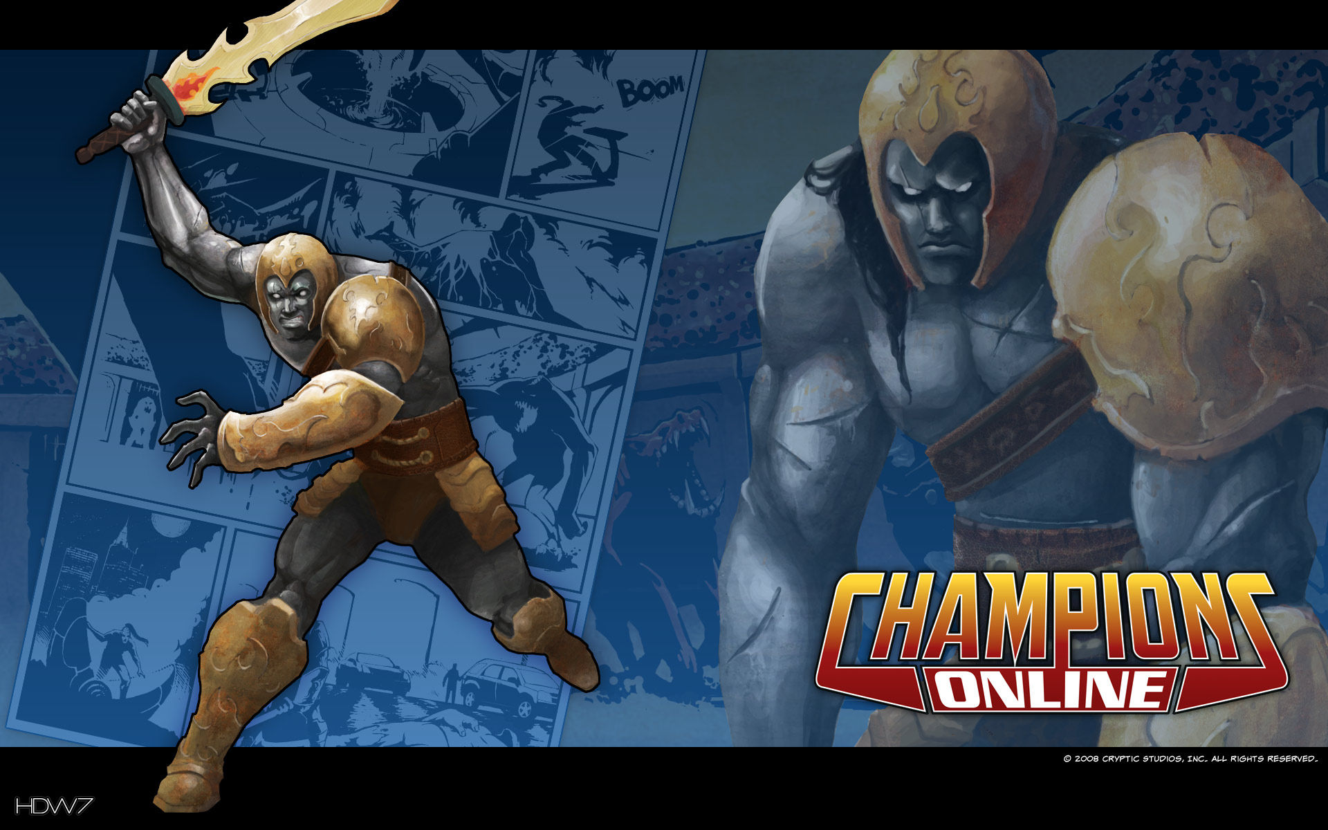 champions online ironclad widescreen wallpaper
