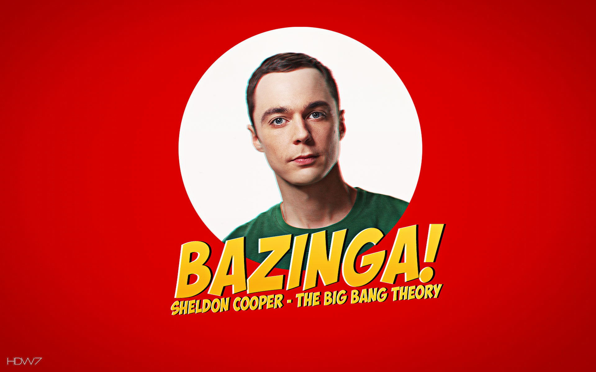 sheldon cooper bazinga wallpaper