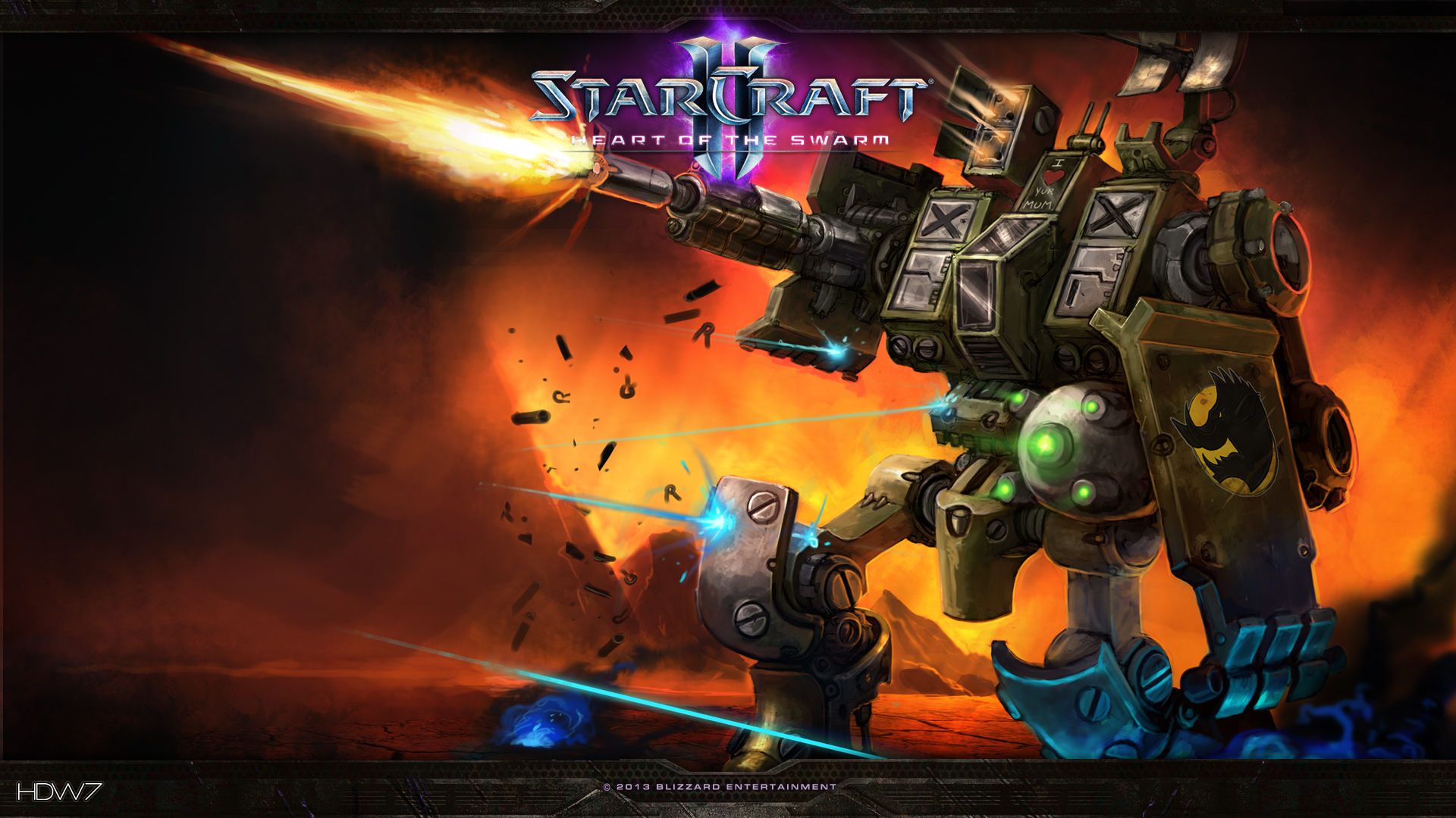 starcraft 2 heart of the swarm command performance widescreen hd wallpaper
