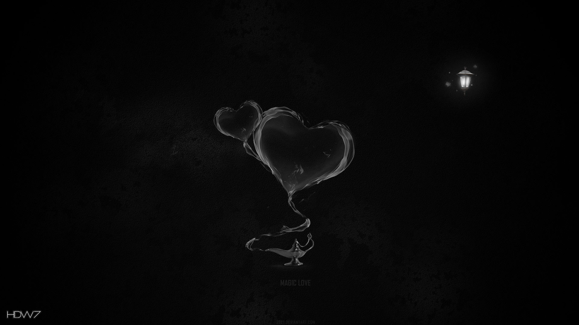 Hearts Lamp Magic Smoke Dark Hd Wallpaper Gallery 143