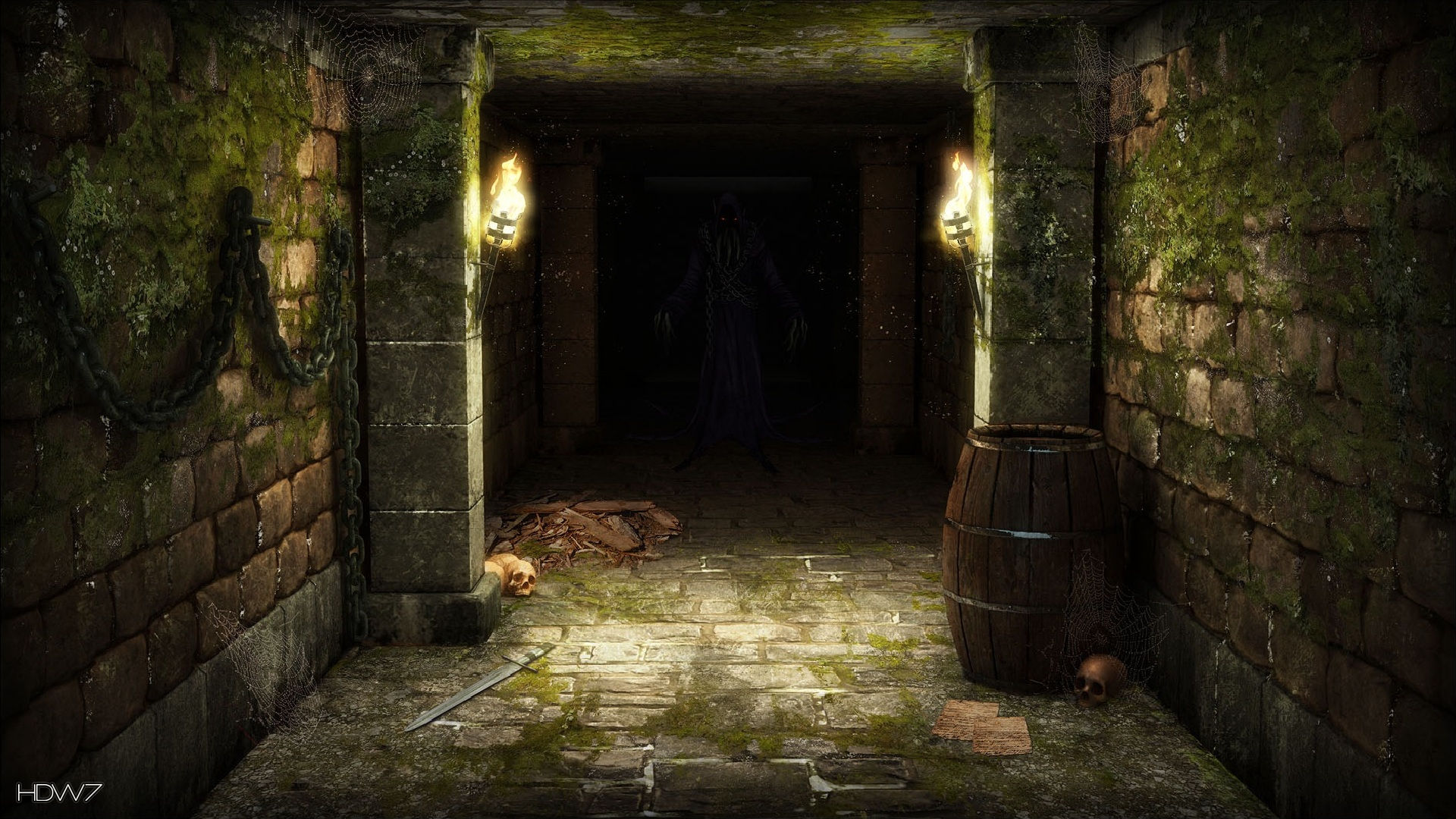 legend of grimrock dungeon demon widescreen hd wallpaper | HD ...