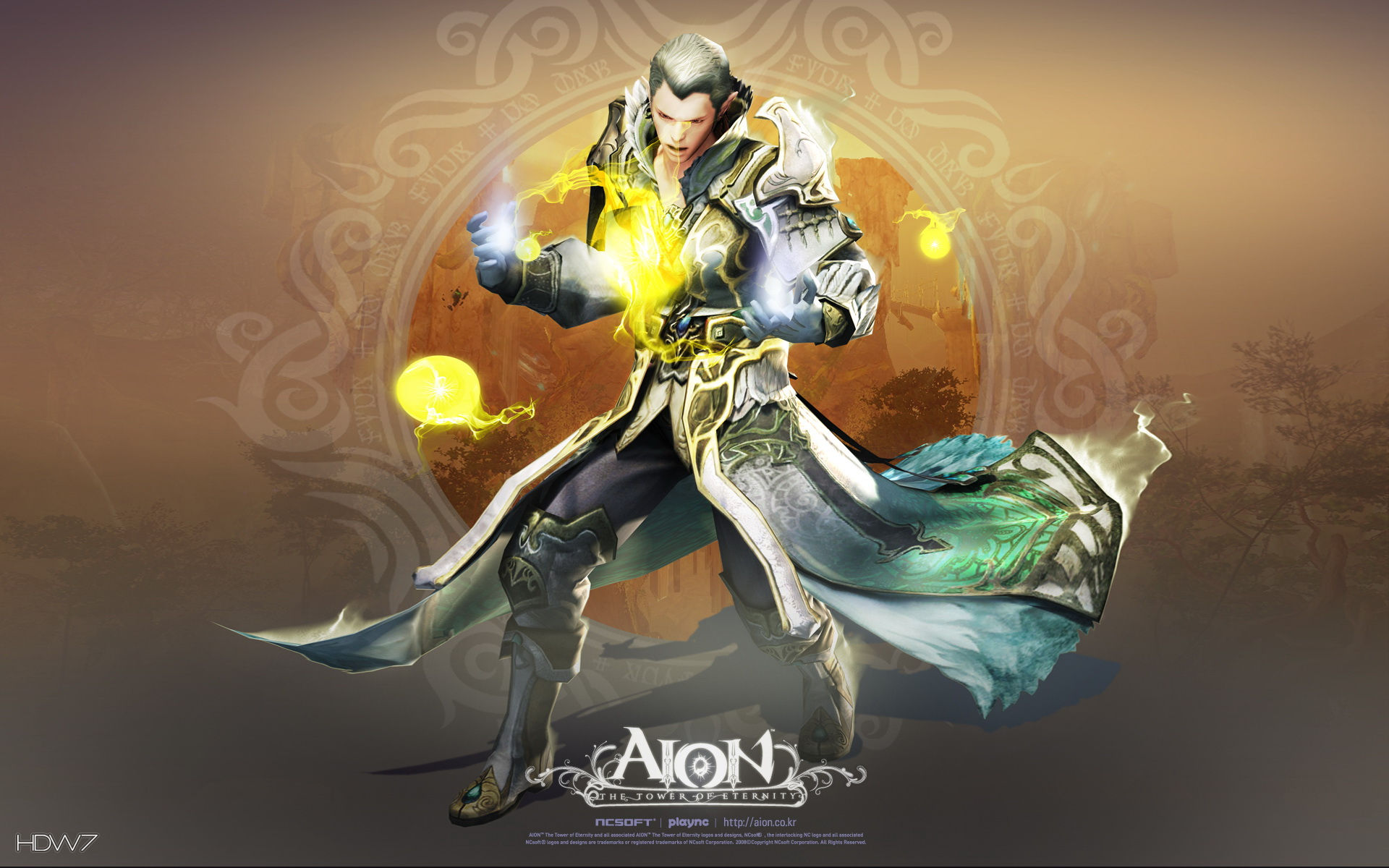 aion mage widescreen wallpaper