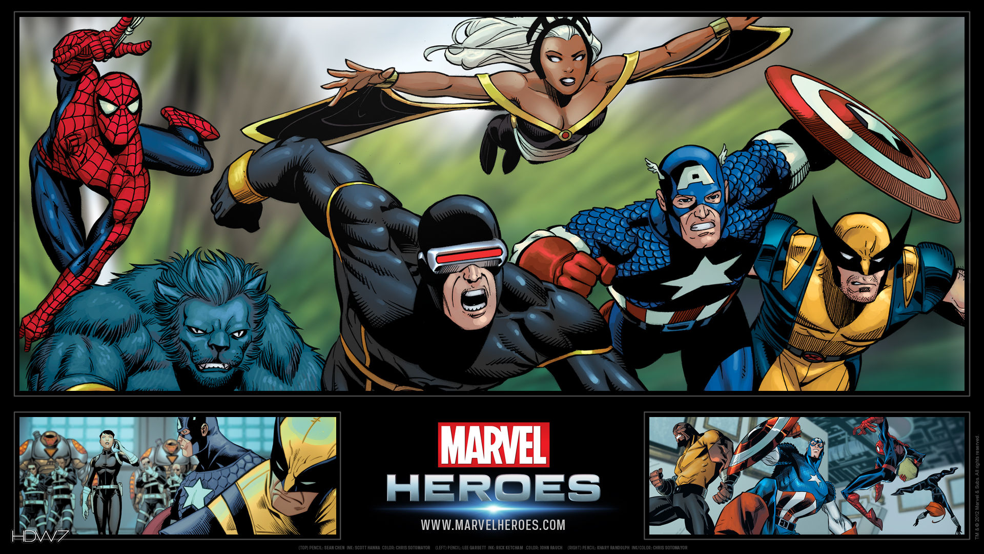 Marvel Heroes Marvel Superheroes Widescreen Hd Wallpaper Hd
