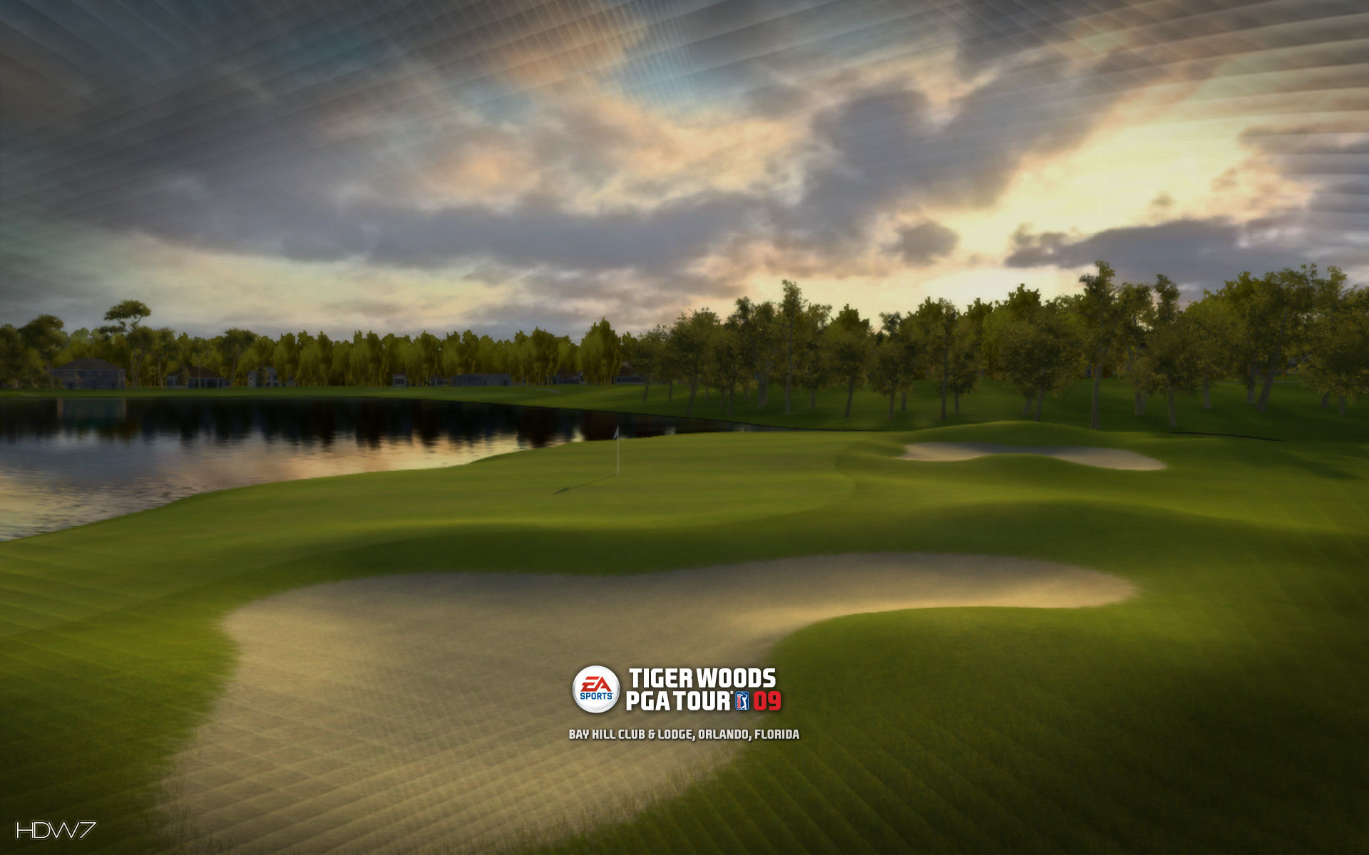tiger woods pga tour 09 bay hill widescreen wallpaper
