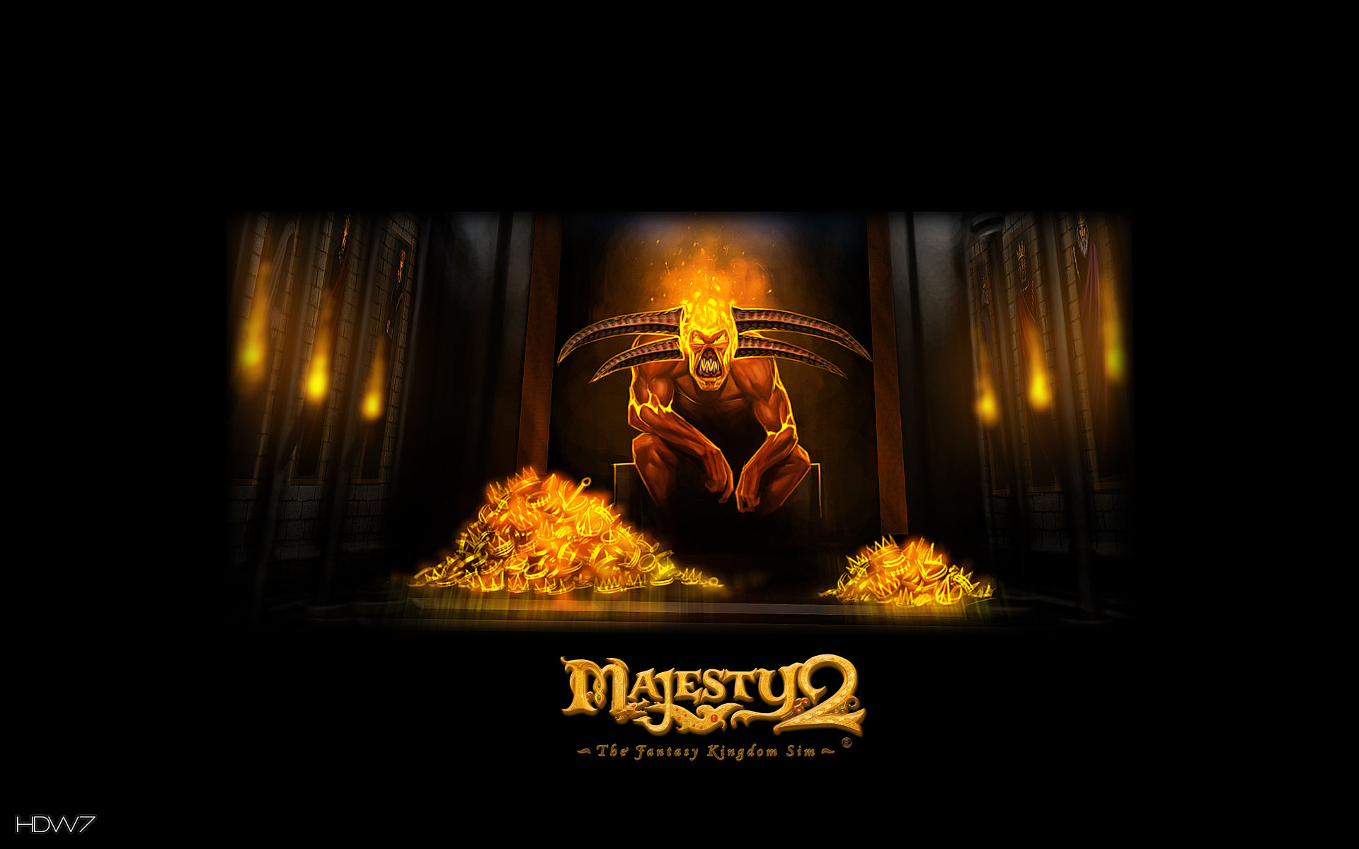 majesty 2 fire crown widescreen wallpaper
