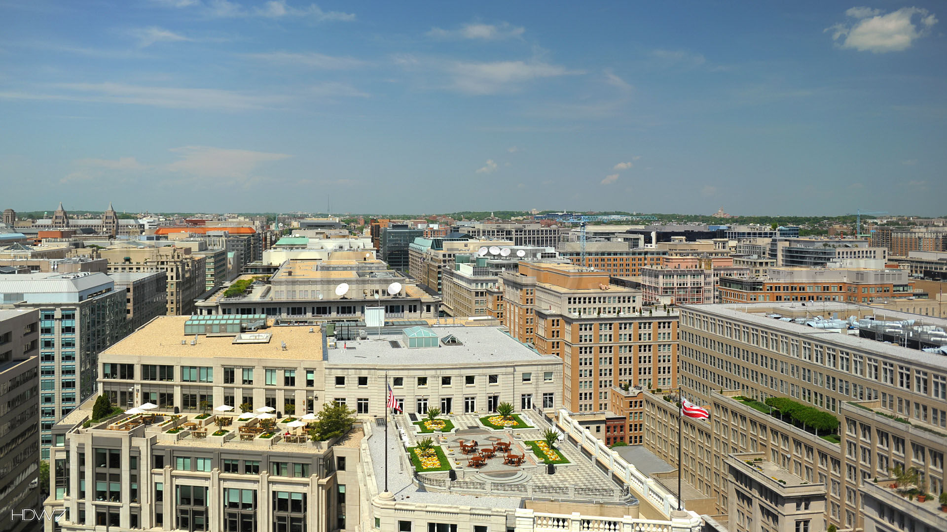 aerial cityscape of washington dc landscape united states | hd