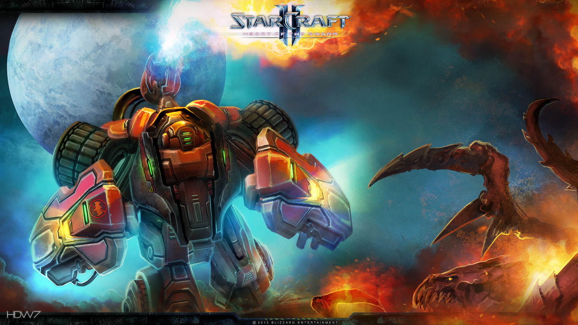 starcraft 2 heart of the swarm hellbat widescreen hd wallpaper