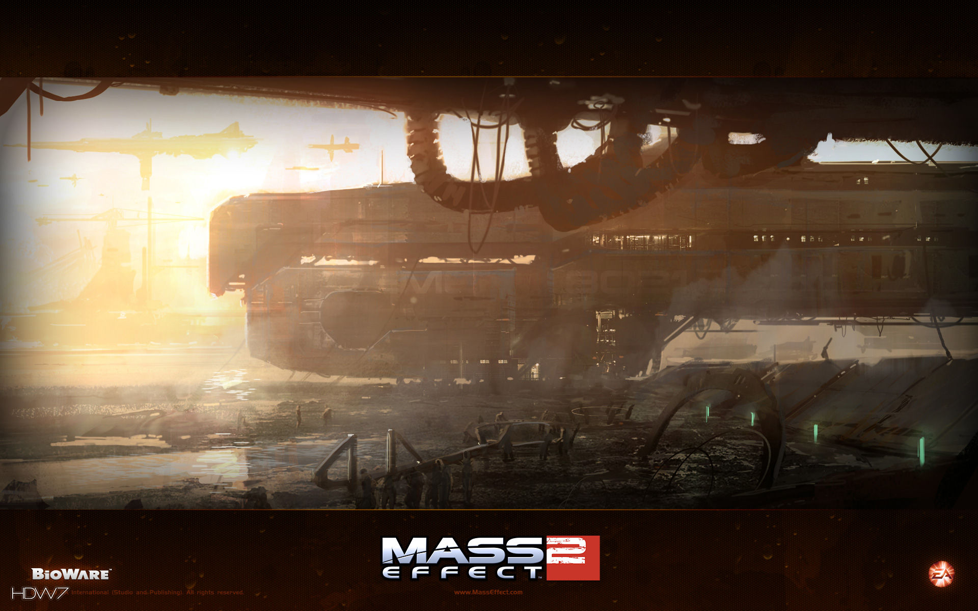 mass effect 2 suicide mission widescreen wallpaper