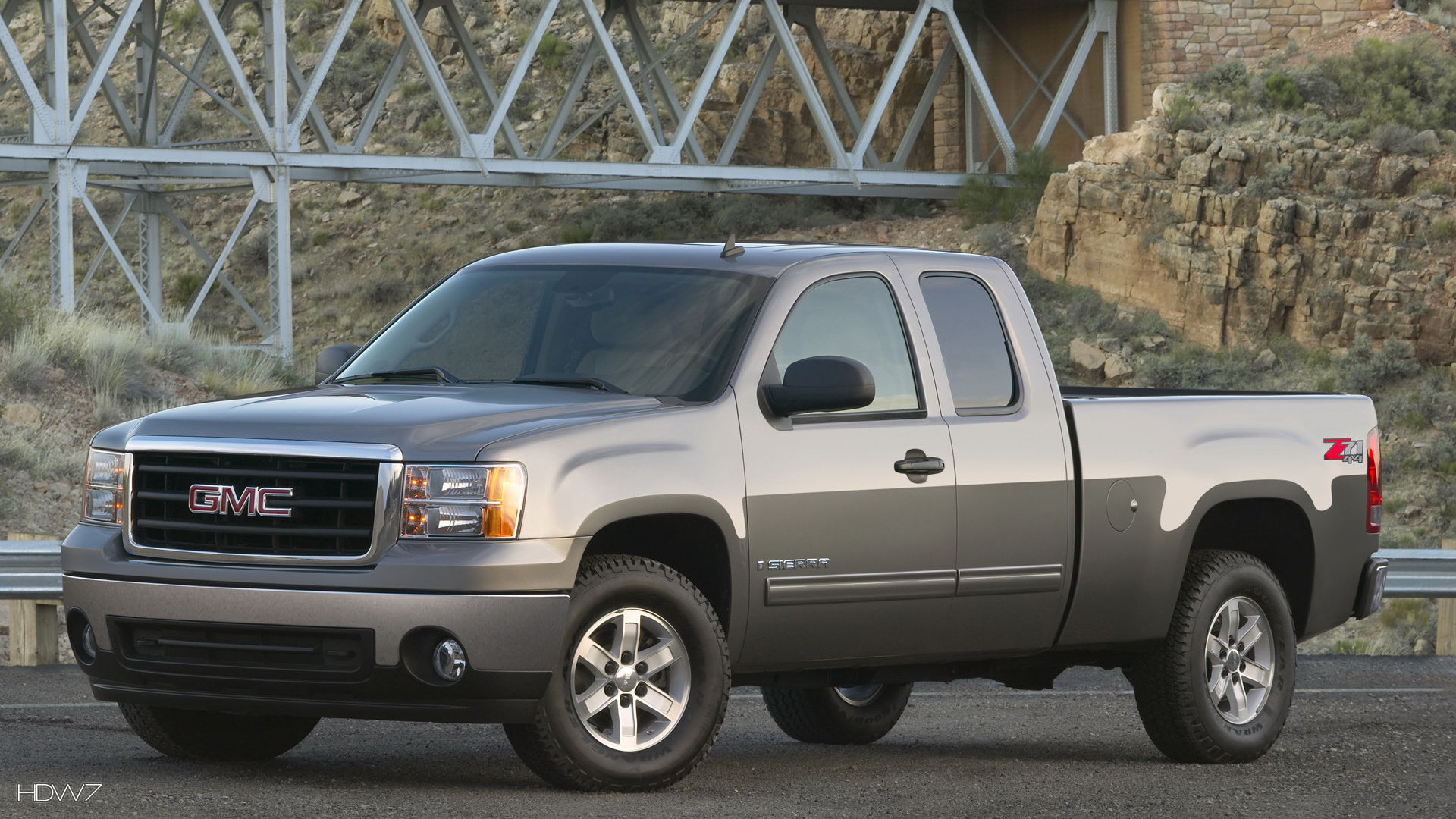 gmc sierra sle extended cab 2008 car hd wallpaper
