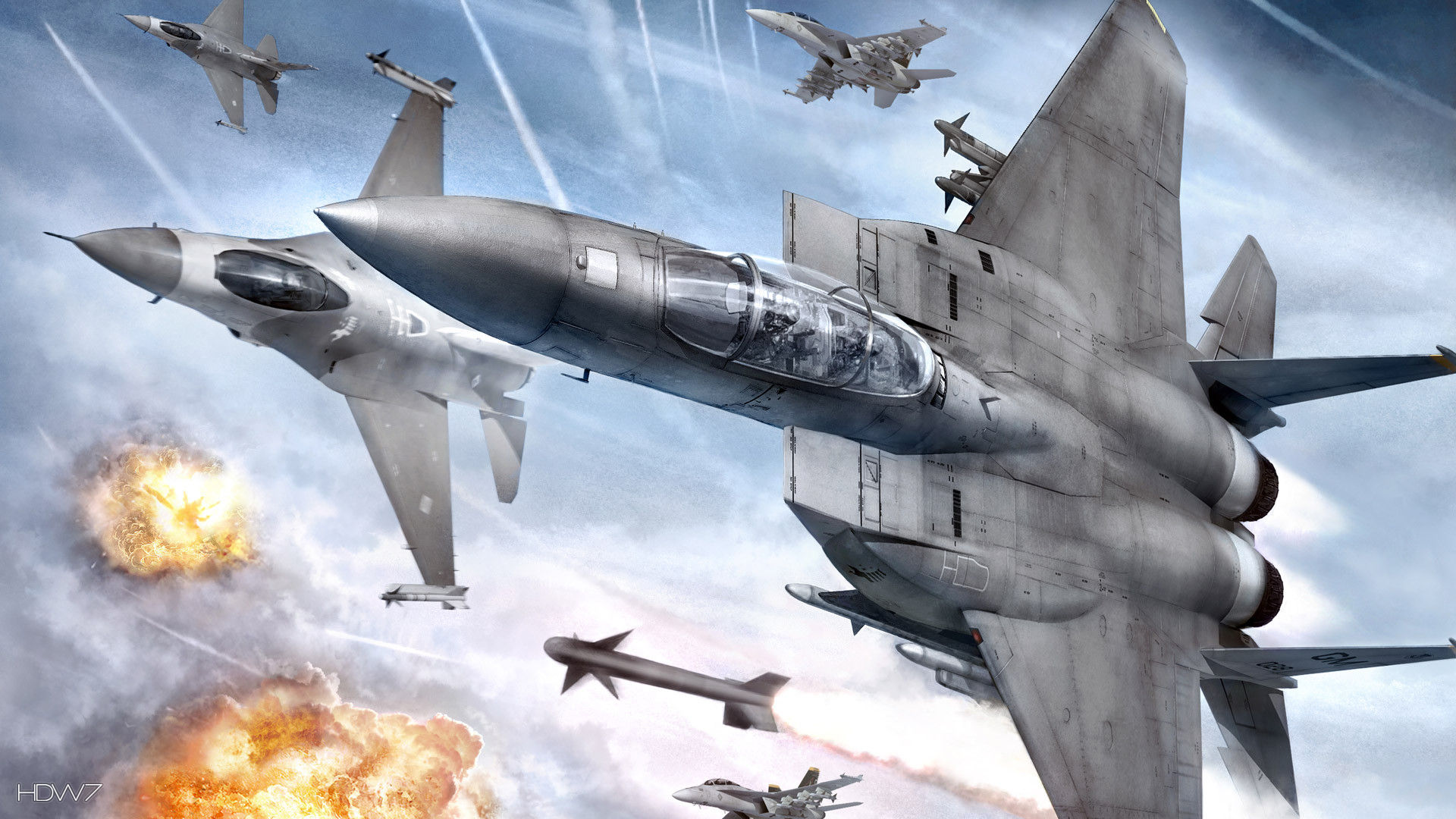 Ace Combat 6 Fires Of Liberation Game Planes War Explosion