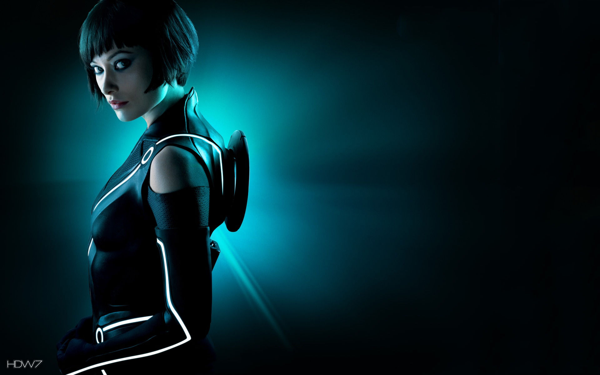group of olivia wilde tron wallpaper