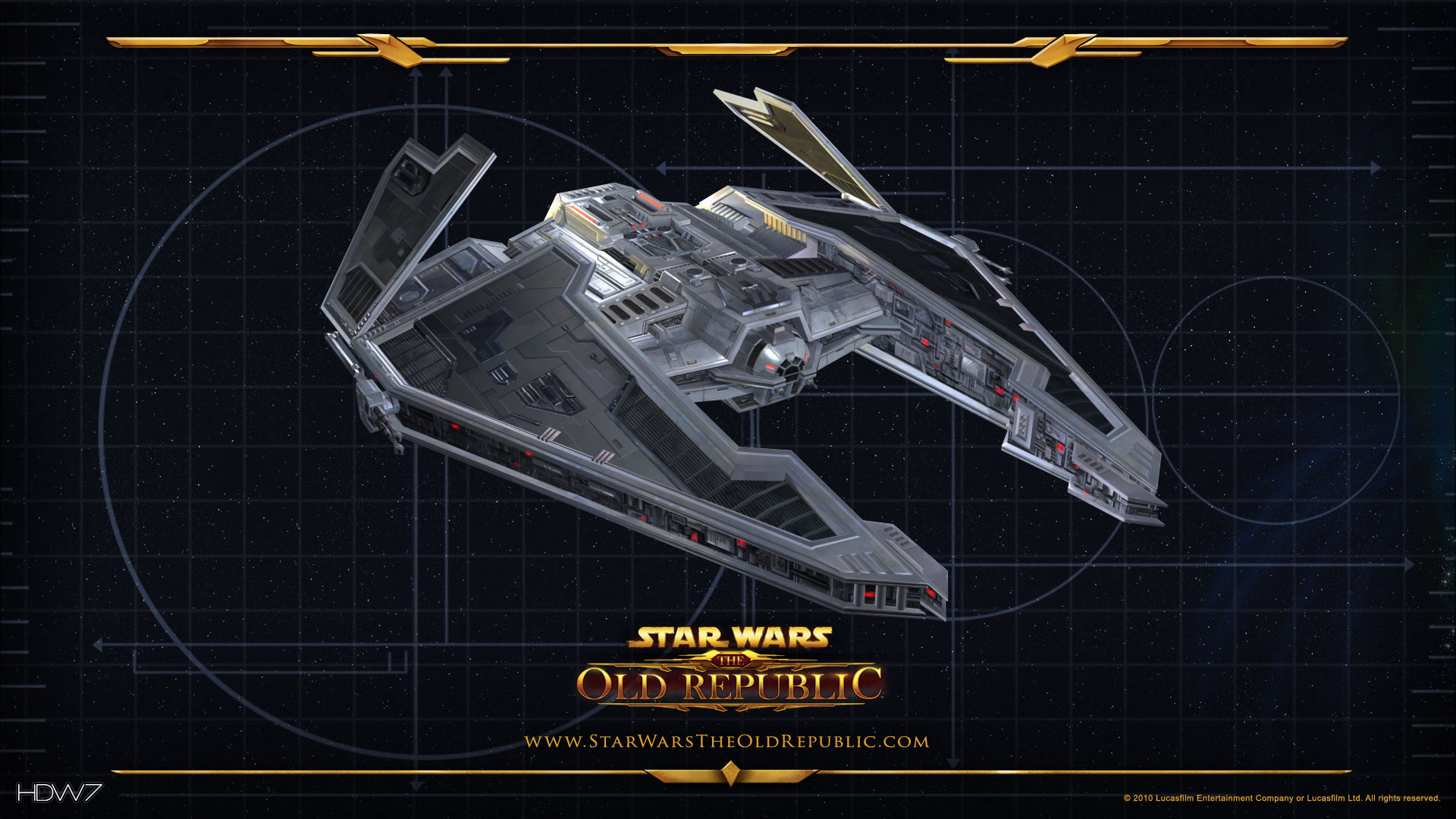 star wars the old republic fury starship widescreen hd wallpaper