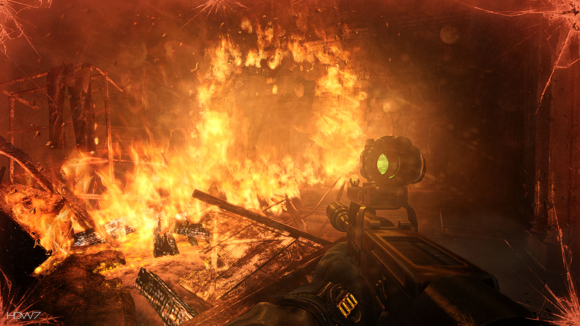 metro last night fire hd wallpaper