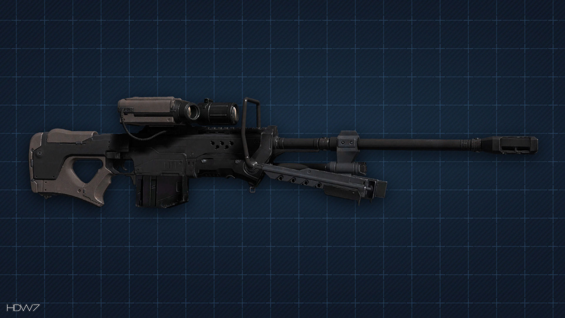 Halo 4 Sniper Rifle Widescreen Hd Wallpaper