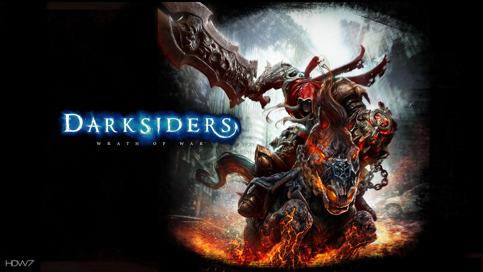 darksiders wrath of war forces of heaven and hell widescreen hd wallpaper