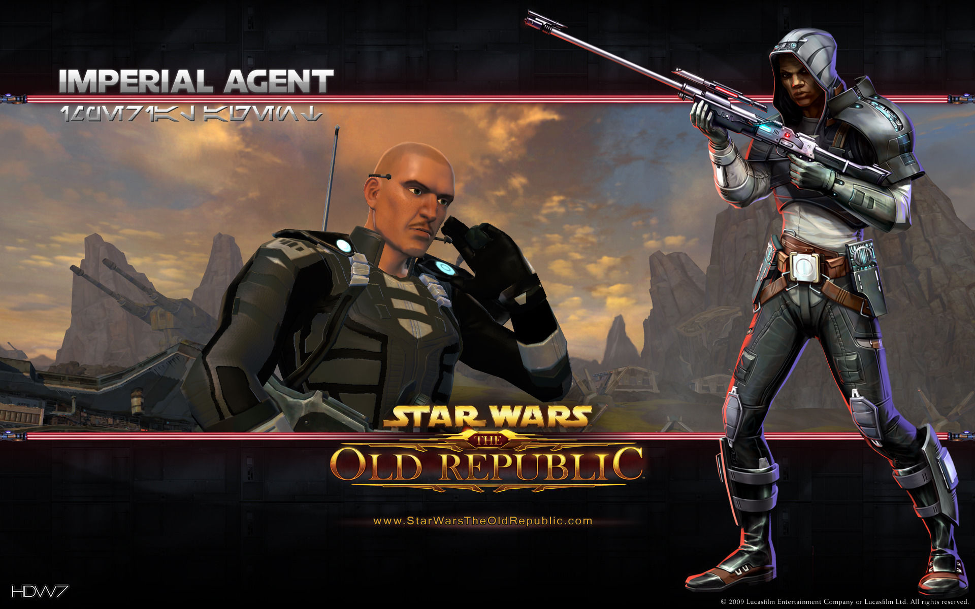 Star Wars The Old Republic Imperial Agent Widescreen Wallpaper Hd Wallpaper Gallery 325