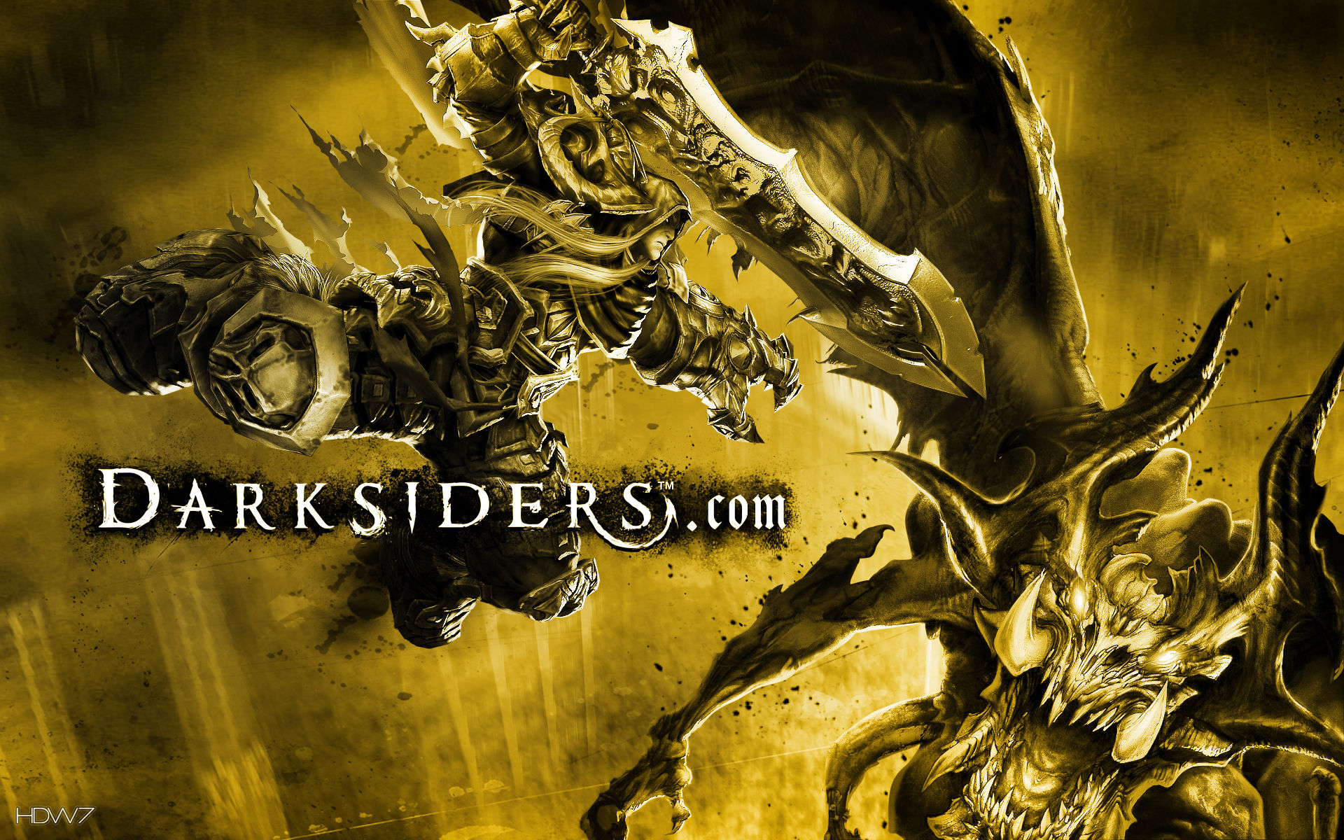 darksiders wrath of war shocking moment widescreen wallpaper