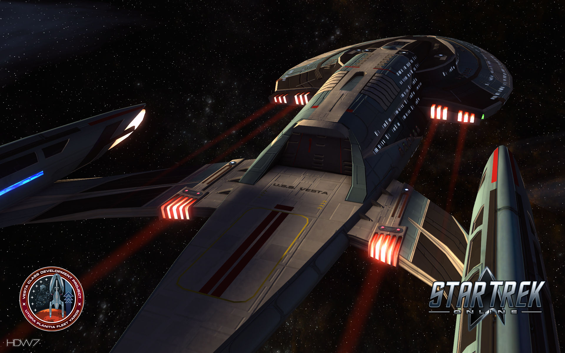 star trek online uss vesta widescreen wallpaper