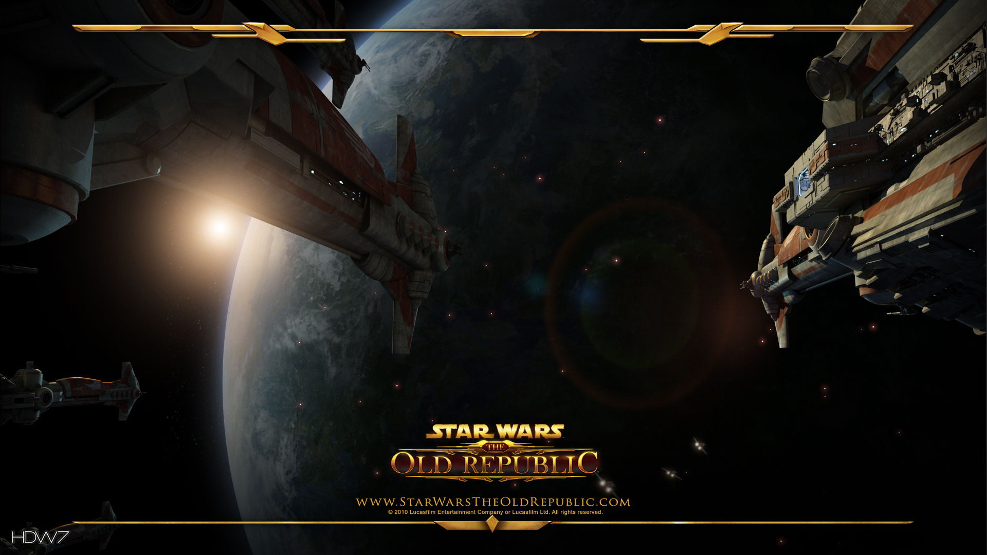 star wars the old republic space view from starship widescreen hd