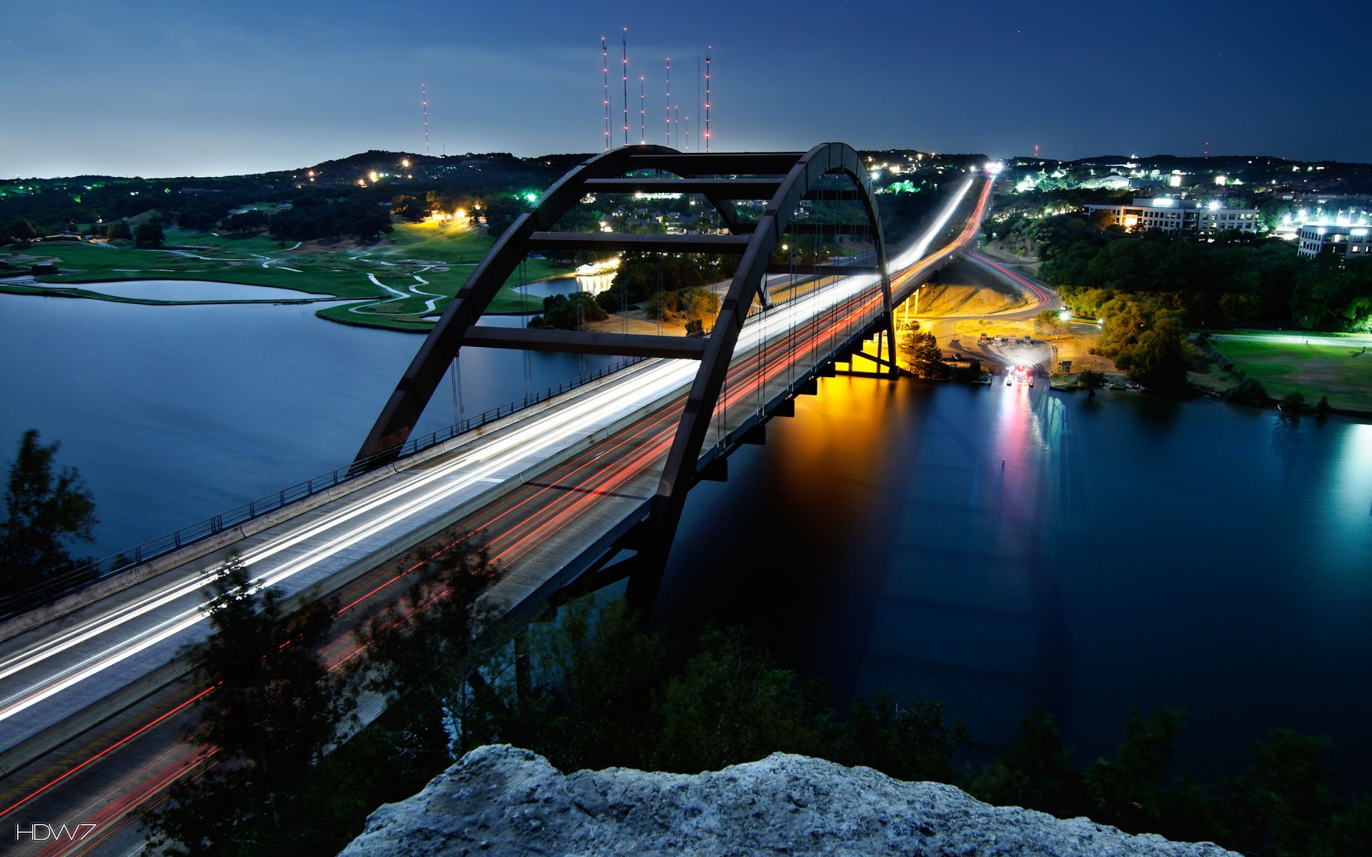 pennybacker bridge austin widescreen