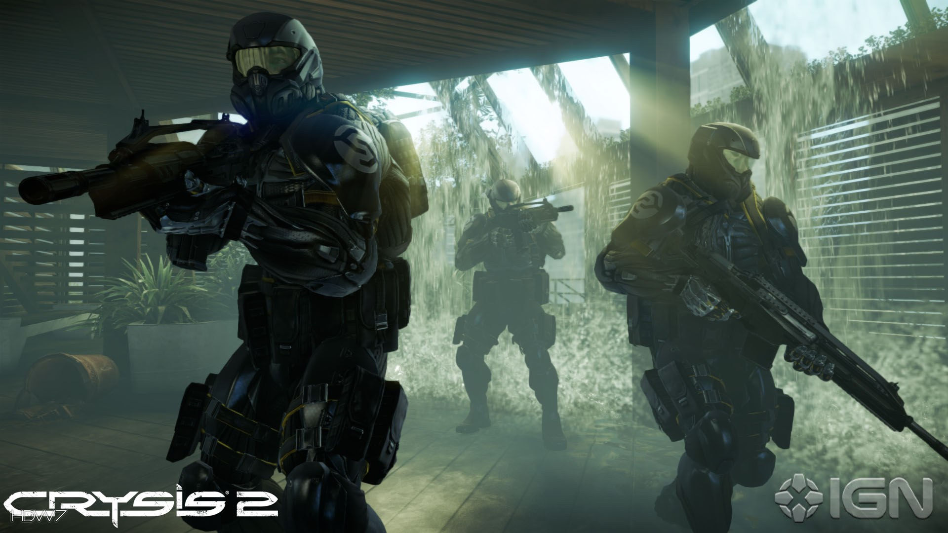 Crysis 2 Cell Soldiers On Patrol Widescreen Hd Wallpaper