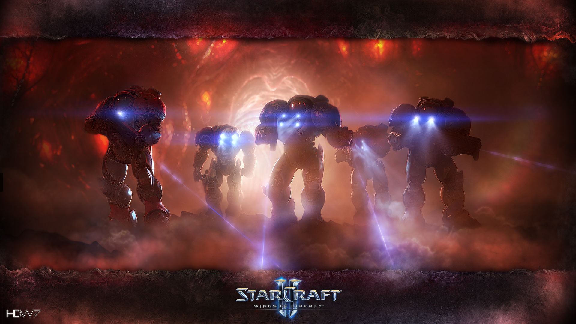 starcraft 2 marine expedition widescreen hd wallpaper | hd wallpaper