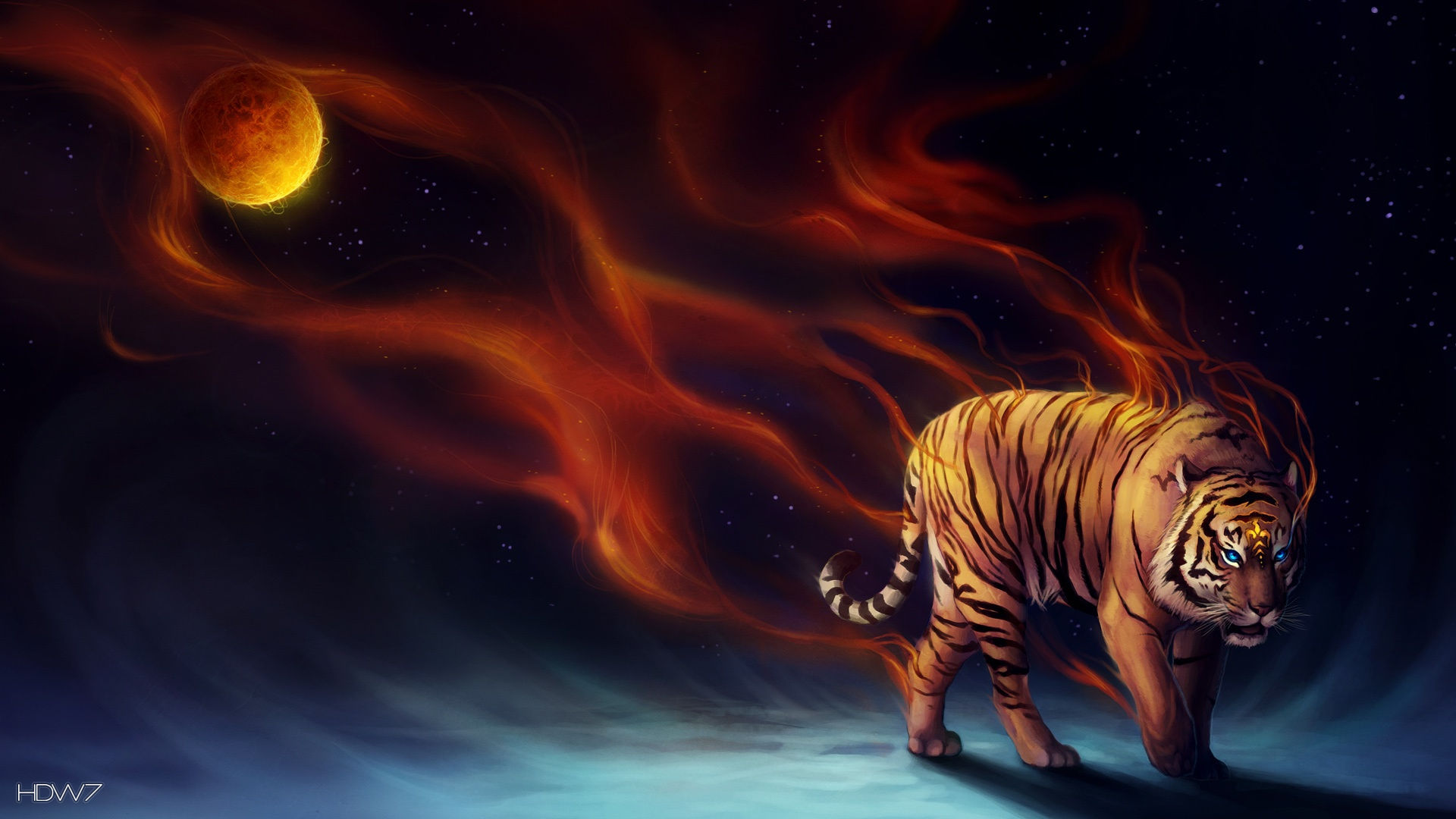 Power Tiger Abstract Art 1920x1080 Hd Wallpaper Gallery 36