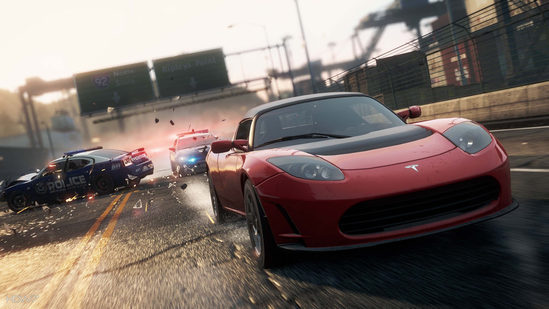 Need For Speed Most Wanted 2012 Tesla Roadster Sport Widescreen Hd Wallpaper Hd Wallpaper Gallery 361