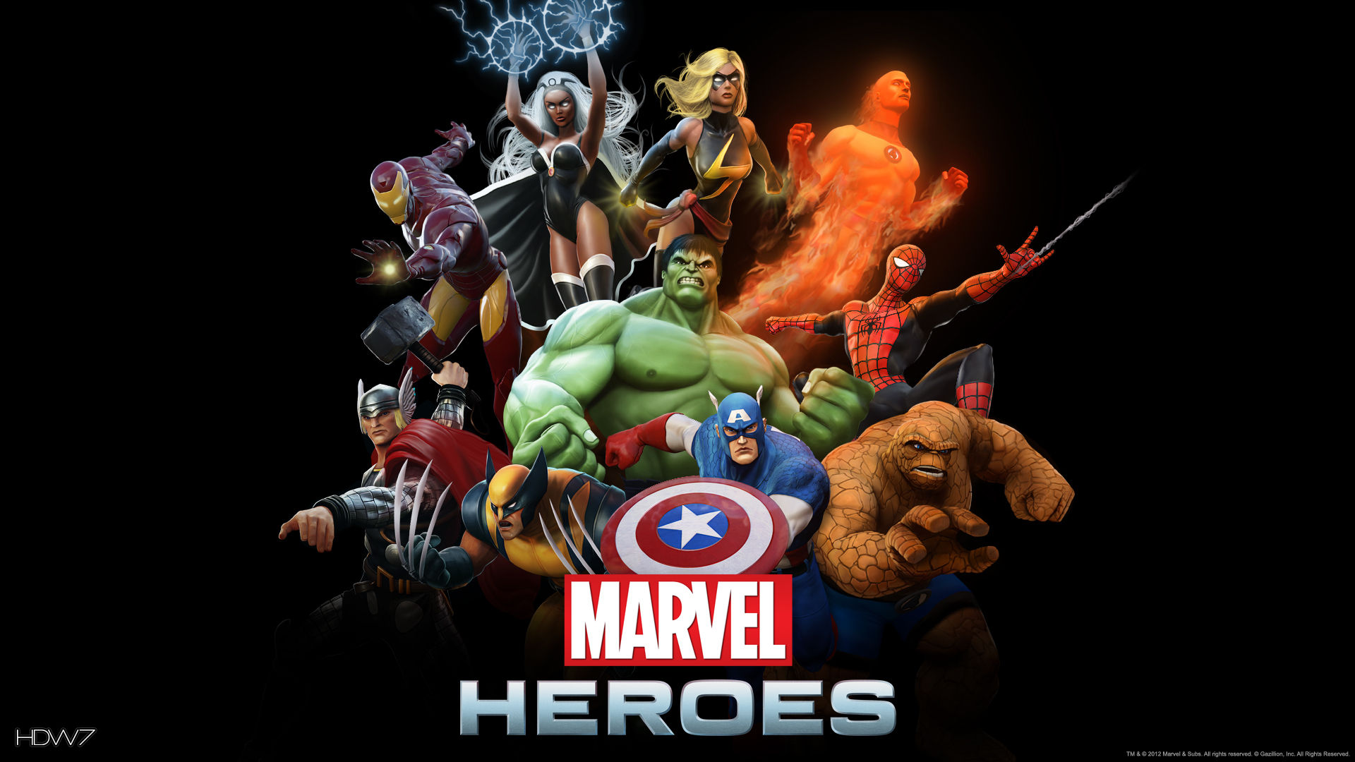 Marvel Heroes Marvel Heroes Poster Widescreen Hd Wallpaper Hd