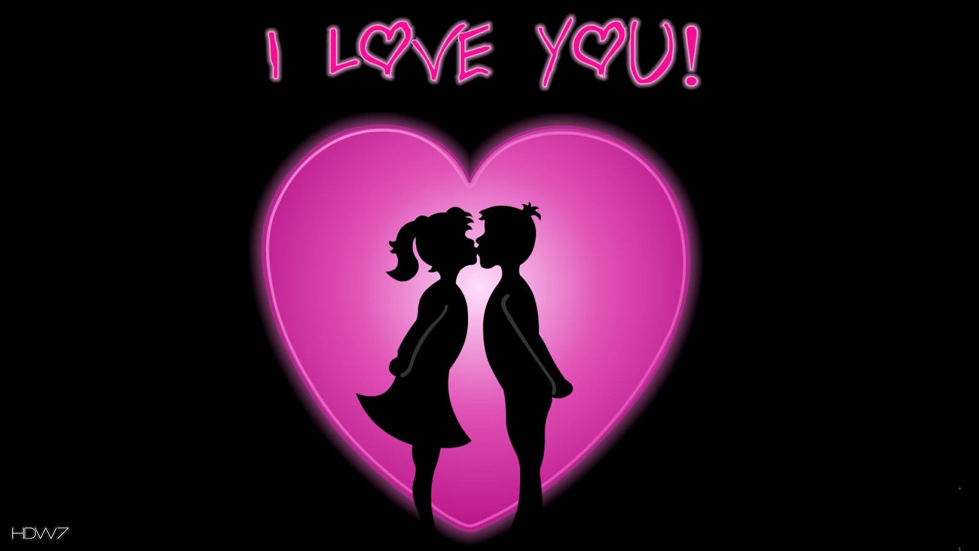 I Love You Couple Pink Heart Hd Wallpaper Gallery 381