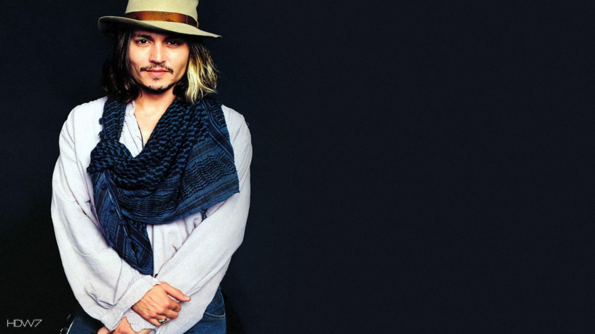 johnny depp with hat 1920x1080