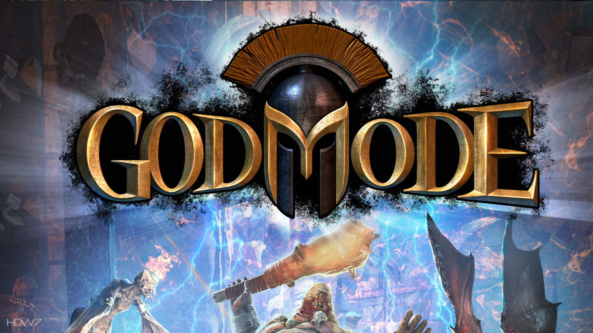 god mode game logo