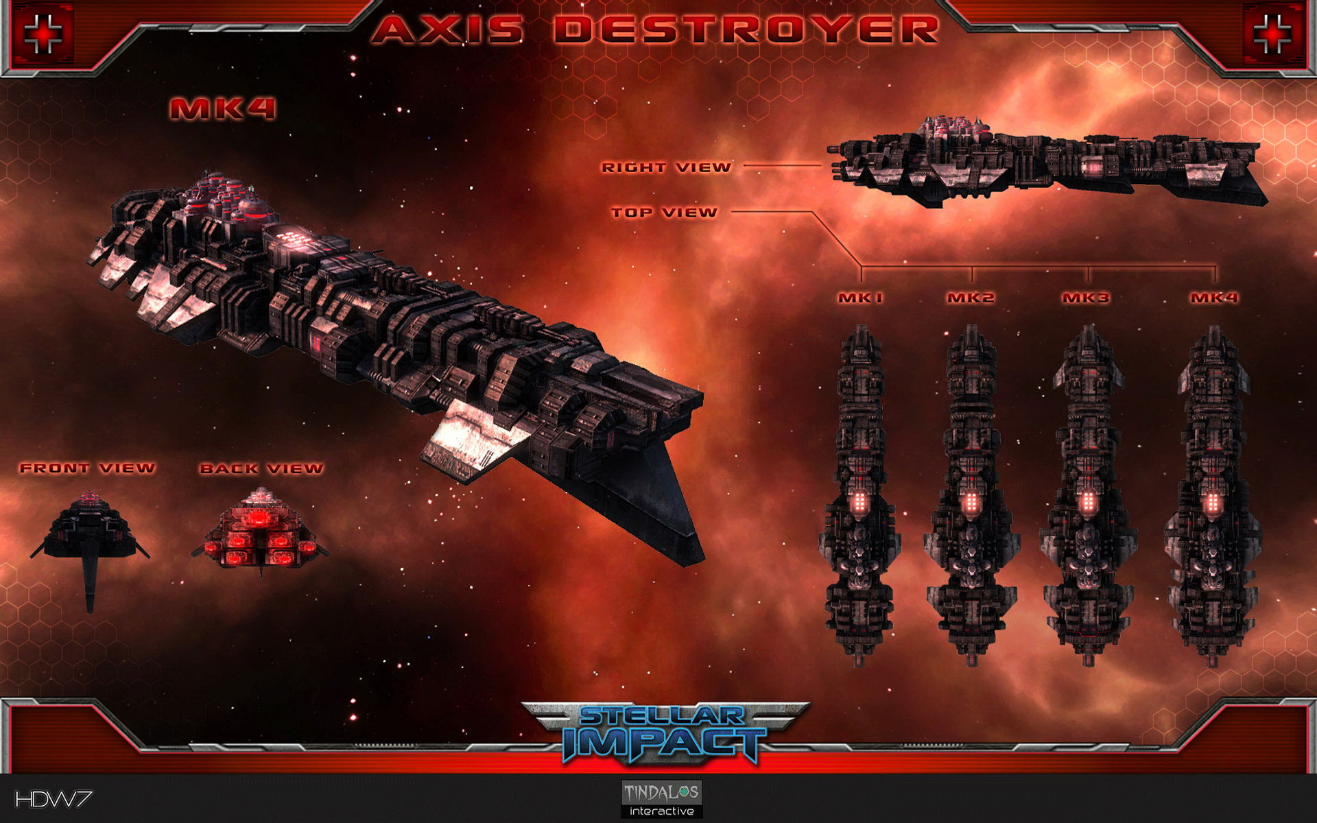 stellar impact axis destroyer widescreen wallpaper