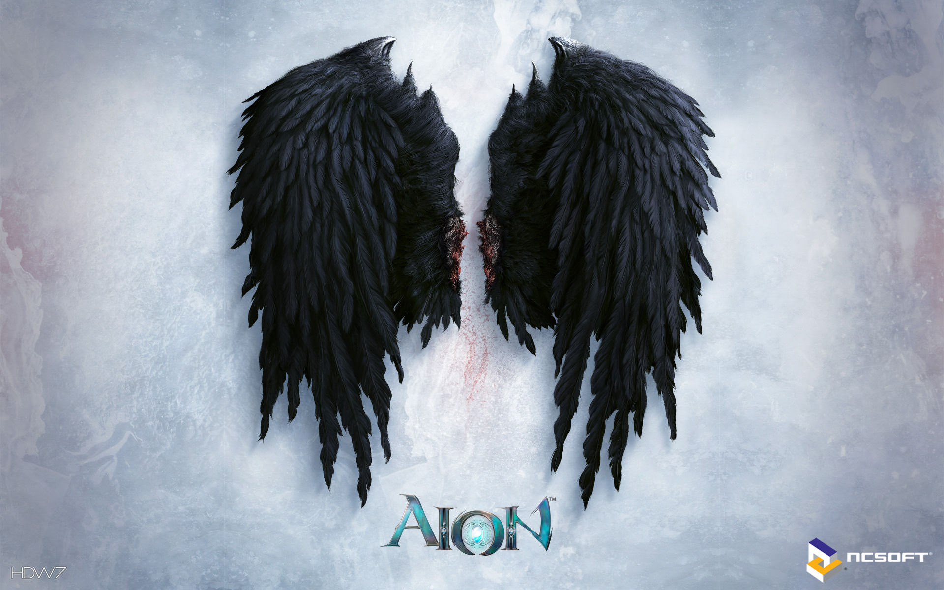 aion black wings widescreen wallpaper