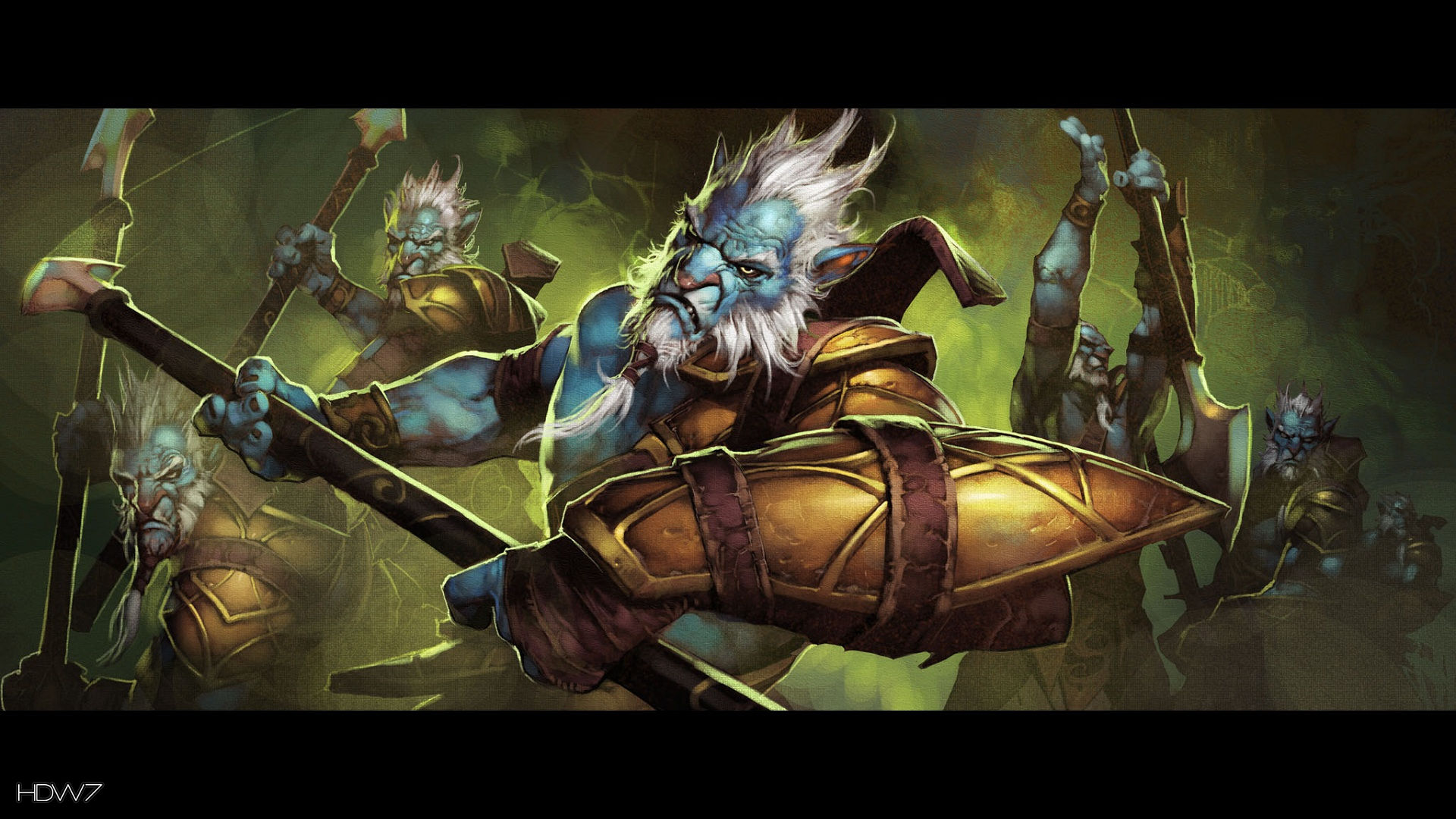 dota 2 azwraith the phantom lancer widescreen hd wallpaper