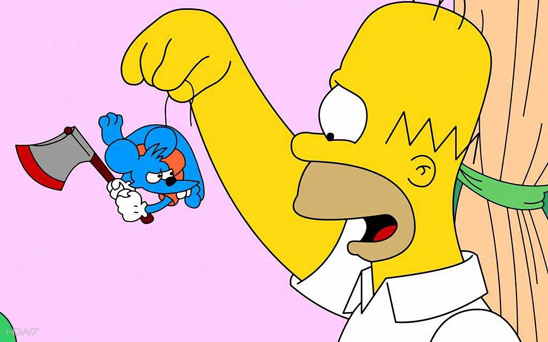 homer with mouse