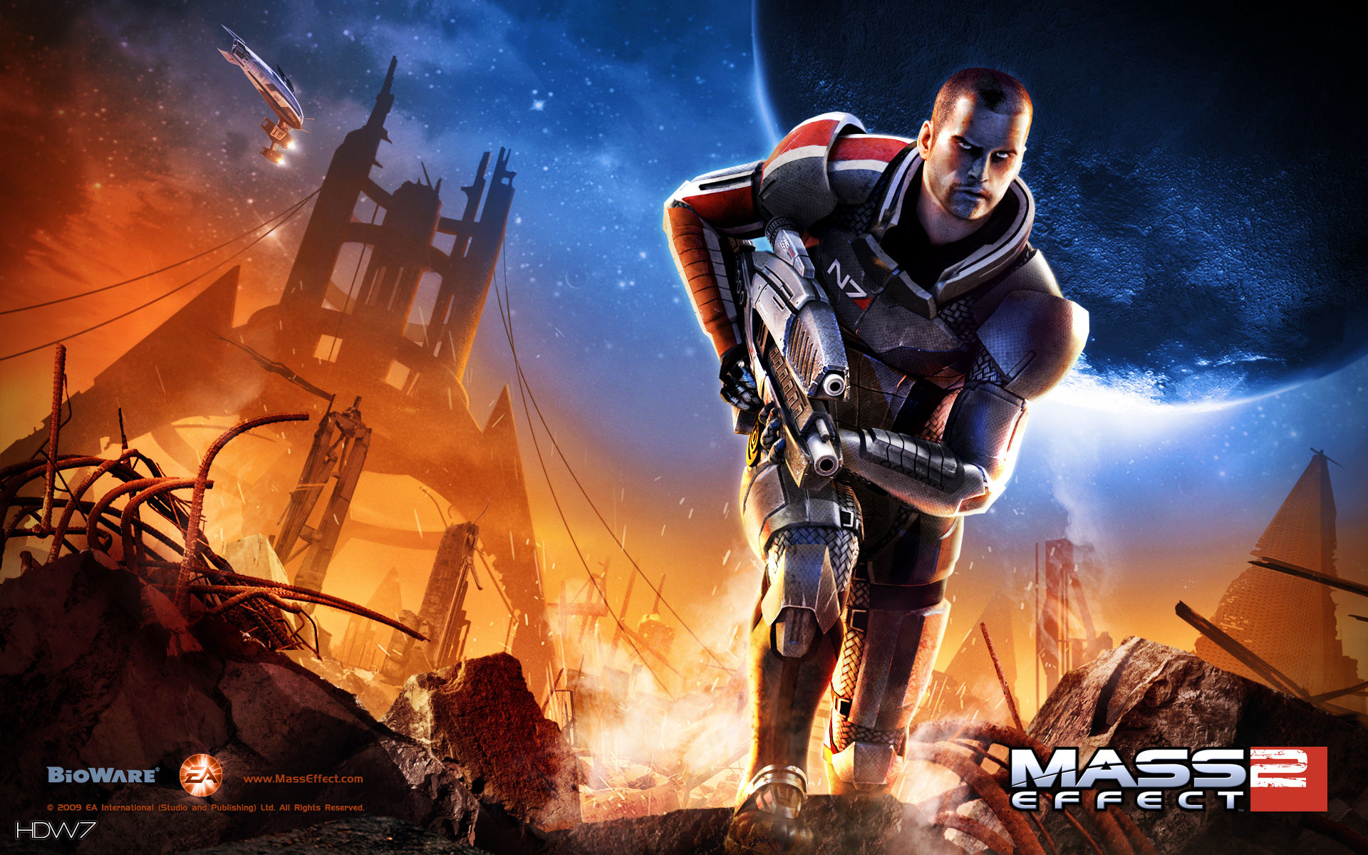 mass effect 2 mass effect 2 widescreen wallpaper