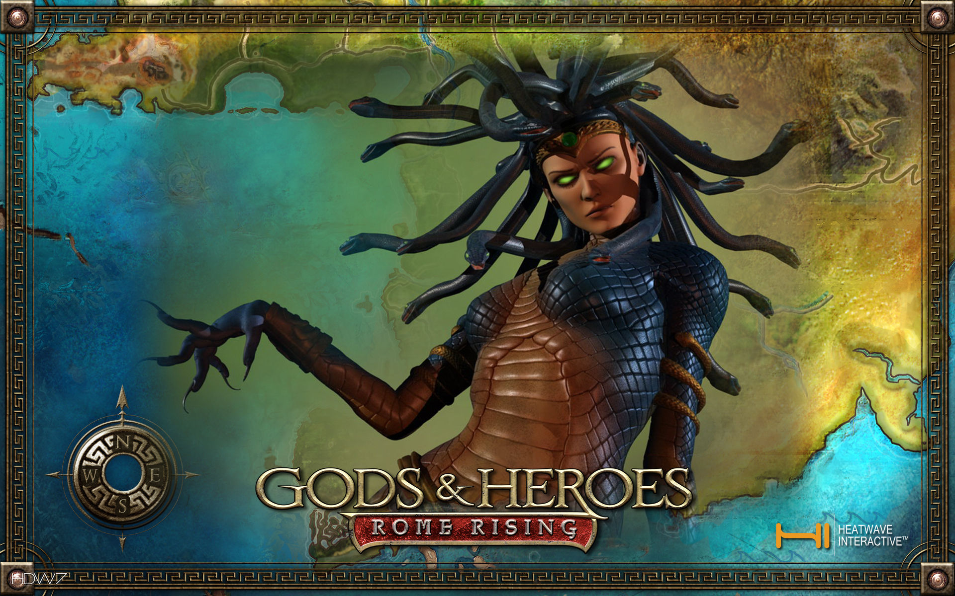 gods and heroes rome rising goddess medusa widescreen wallpaper