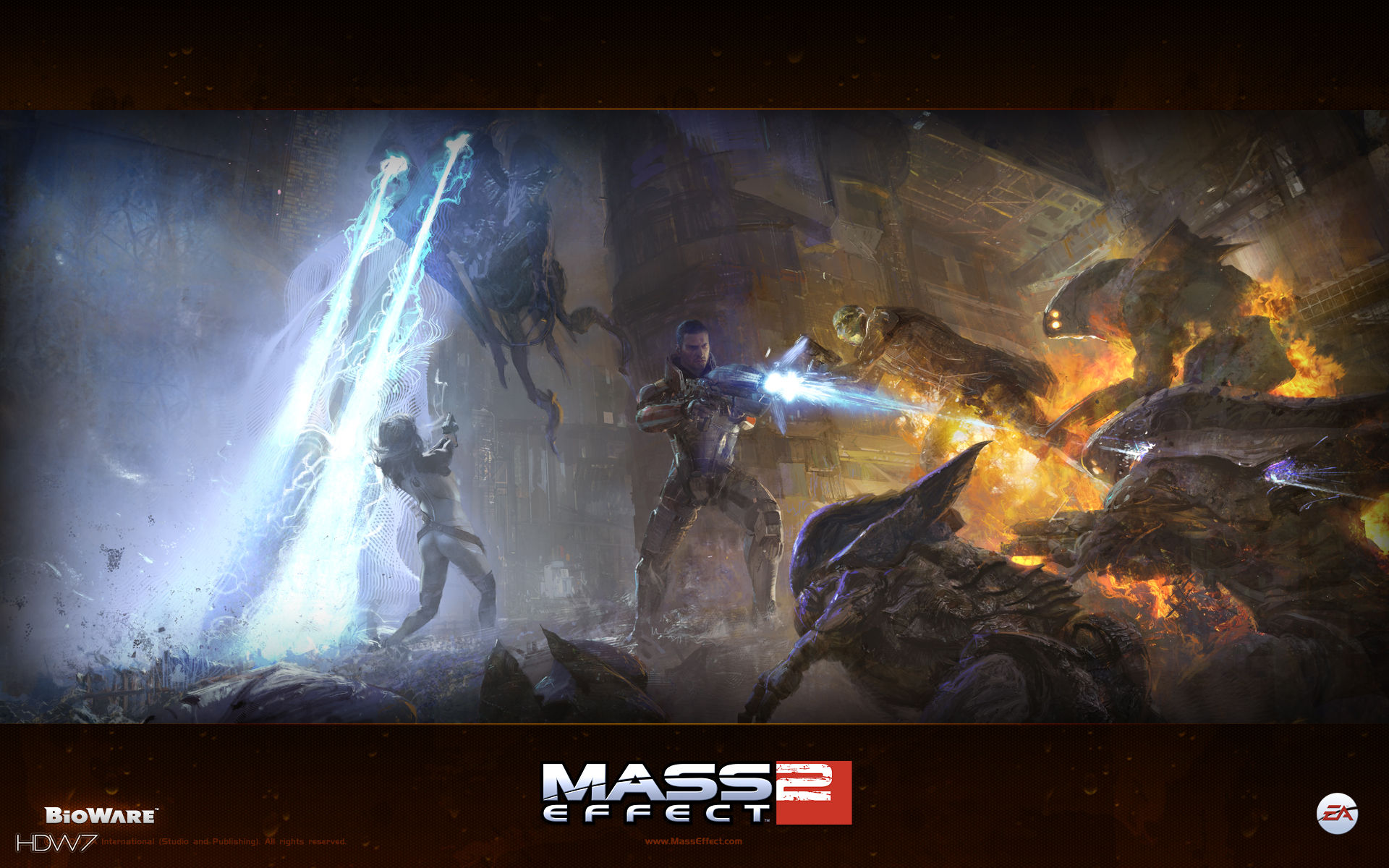 mass effect 2 mullins widescreen wallpaper
