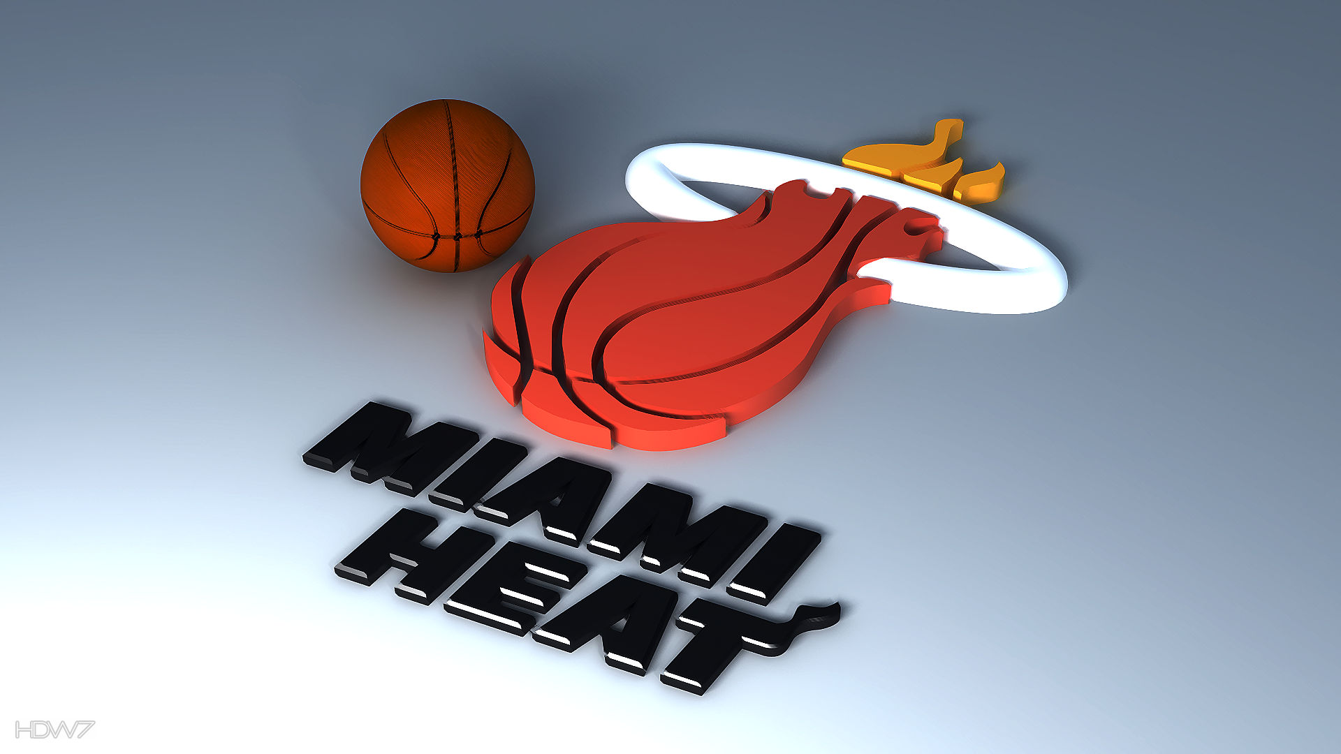 miami heat 3d logo wallpaper