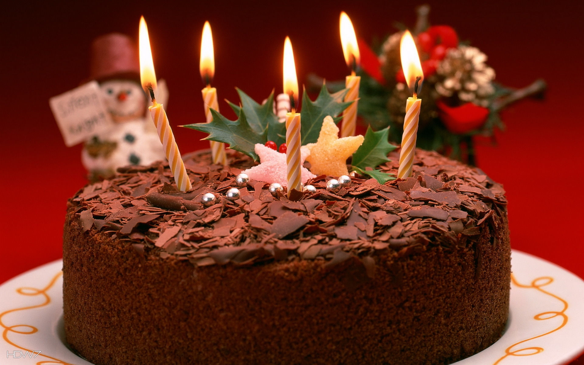 Birthday Cake With Candles Wallpaper Hd Wallpaper Gallery 54