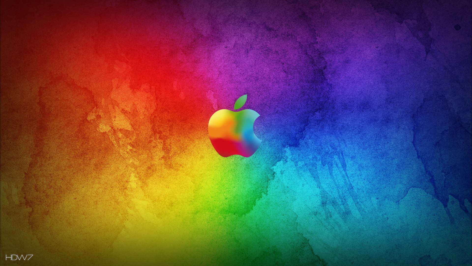 rainbow apple desktop wallpapers hd | hd wallpaper gallery #7