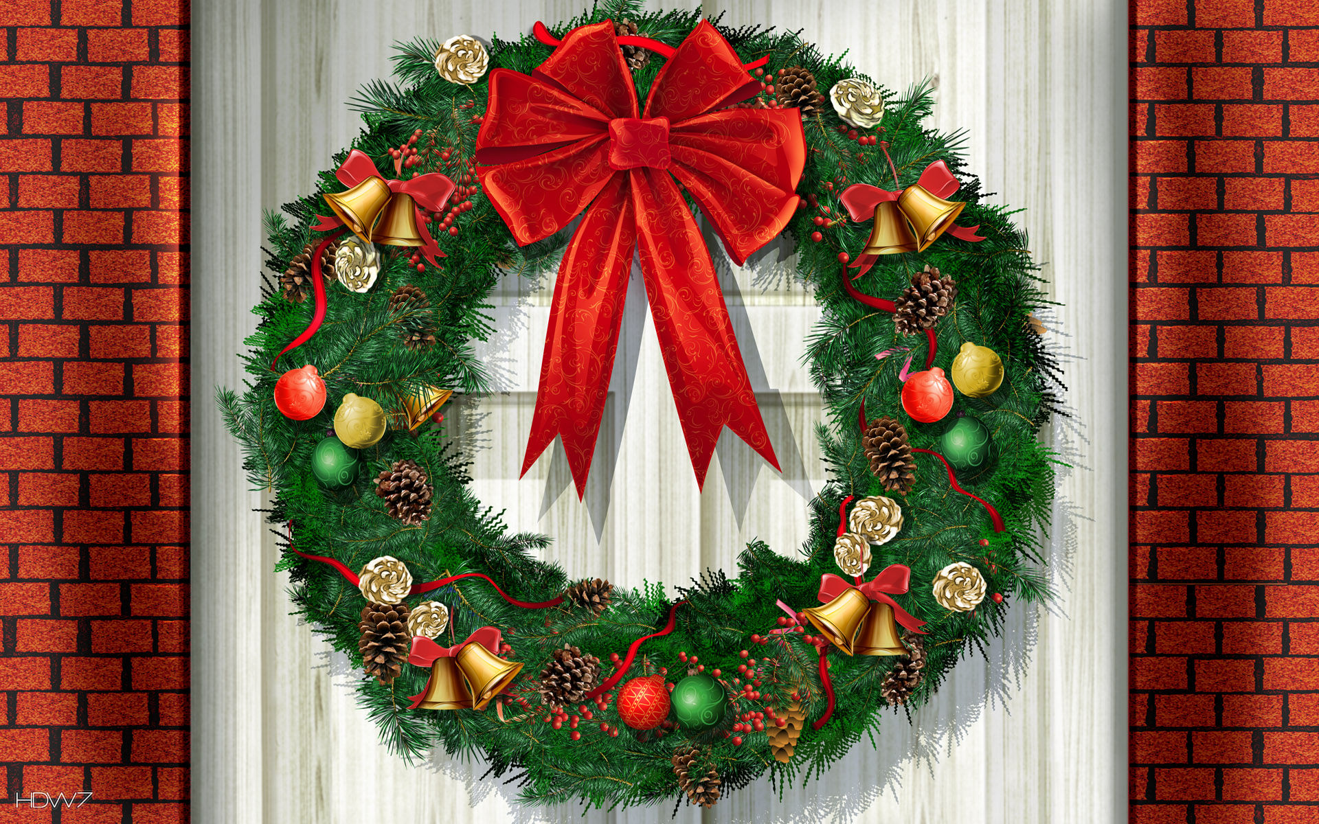 christmas wallpaper wreath