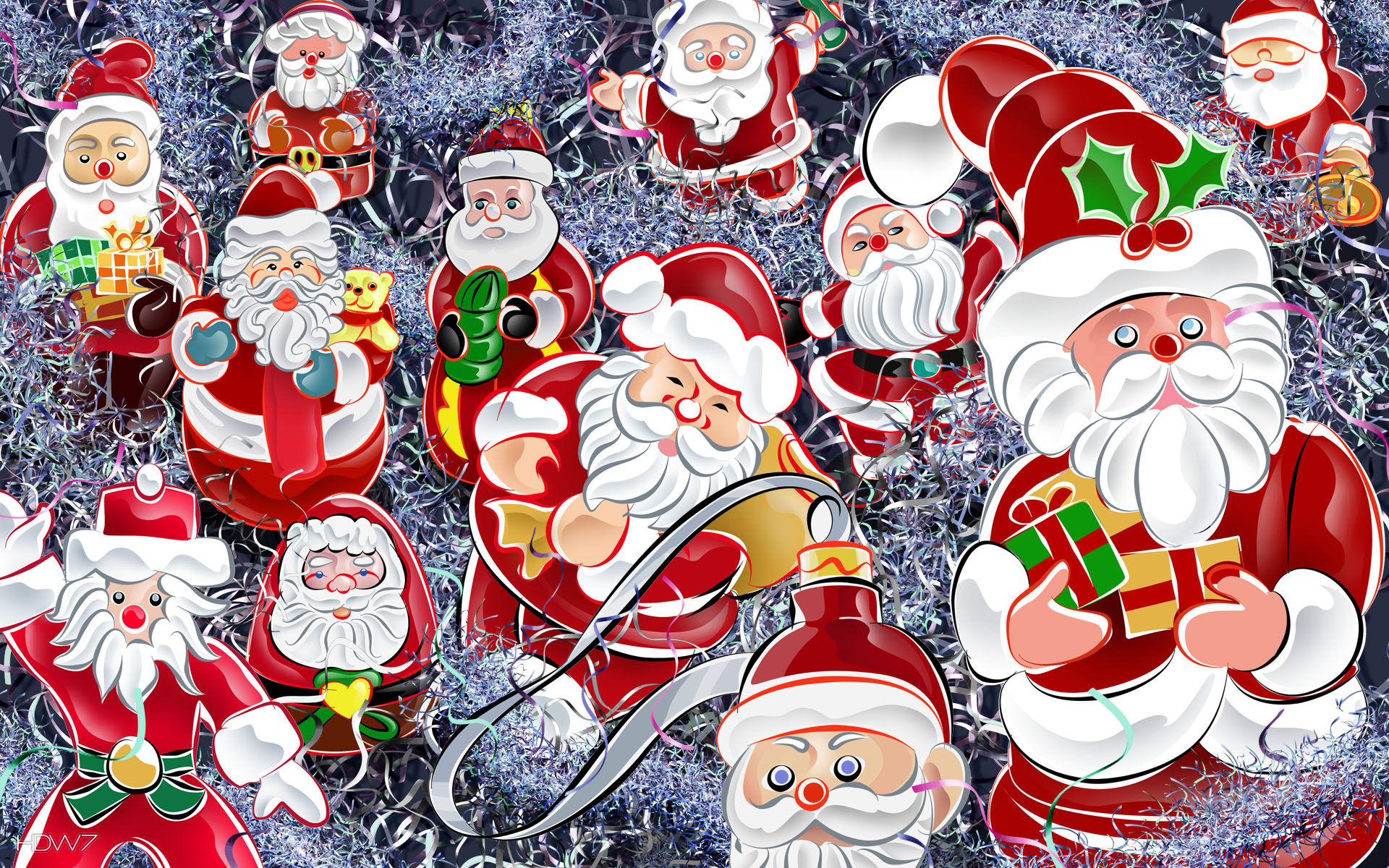 christmas wallpaper santas